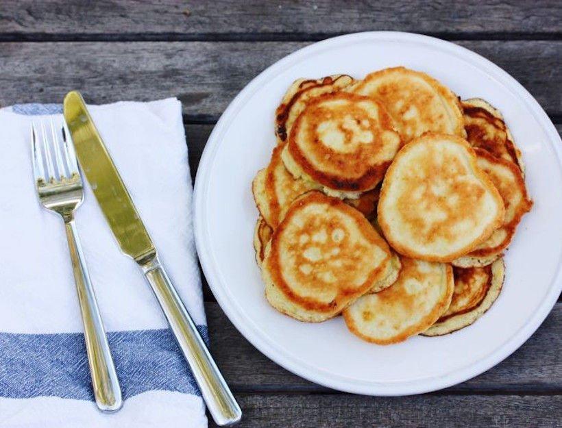 pancakes de harina de coco